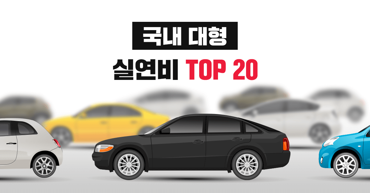 국내 대형 자동차 실연비, 공인연비 랭킹 TOP 20 - 실연비와 리얼후기, 모두의 차고